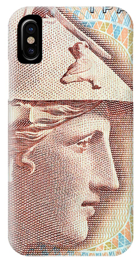 Athena IPhone X Case featuring the photograph Athena On Banknote by Grigorios Moraitis
