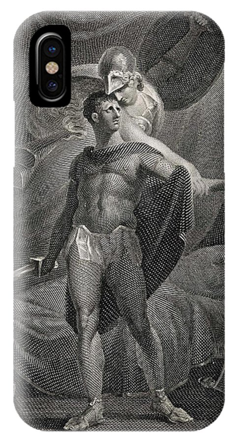 Diomedes IPhone X Case featuring the drawing Athena/minerva Advises Diomedes - Who by Mary Evans Picture Library
