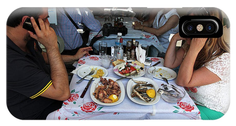 Lunch IPhone X Case featuring the photograph Athenians Eat Lunch by Ros Drinkwater