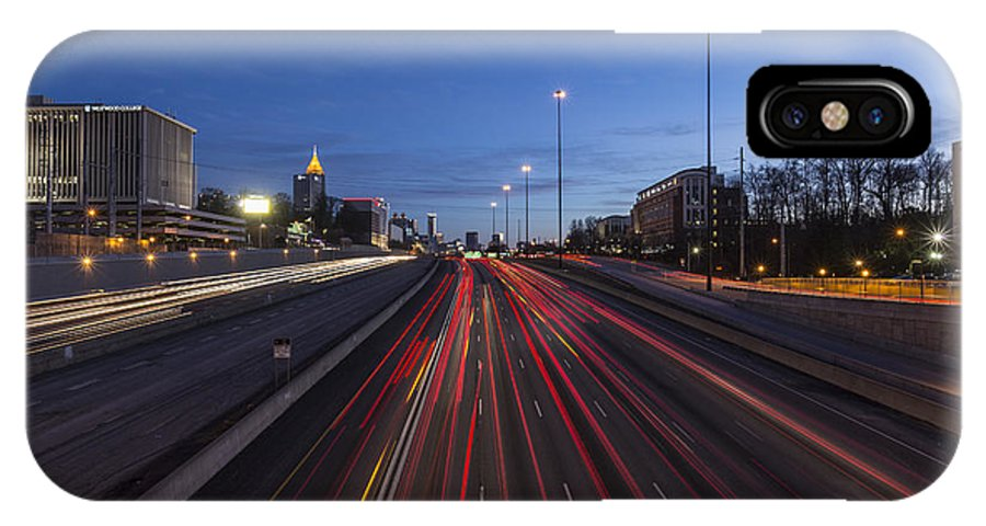 Atlanta IPhone X Case featuring the photograph Atlanta Georgia Midtown Freeway by Trekkerimages Photography