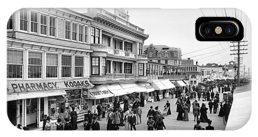 1890 IPhone X Case featuring the photograph Atlantic City Boardwalk by Granger