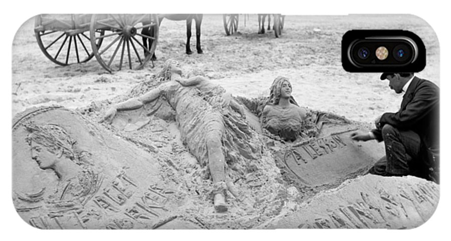 1890 IPhone X Case featuring the photograph Atlantic City The Sandman by Granger