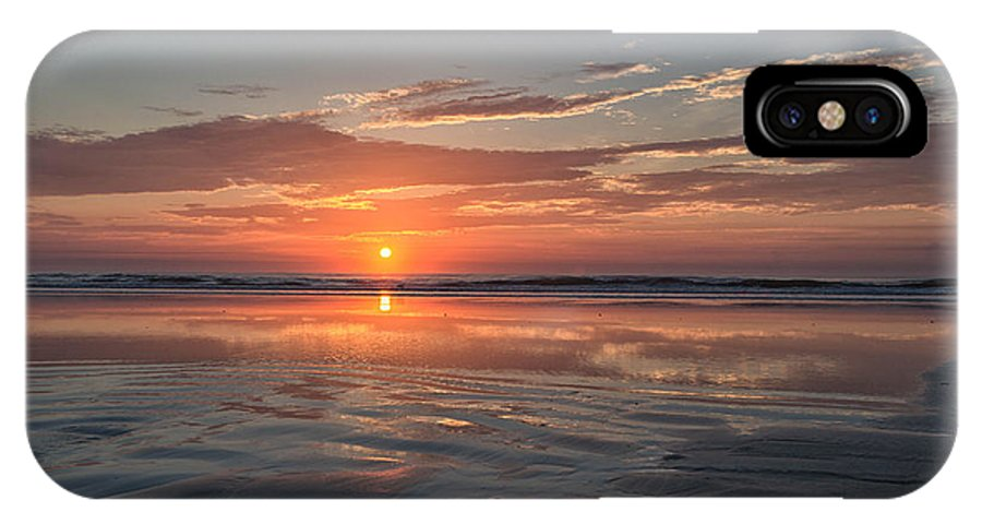 Beautiful Summer Morning Sunrise Over The Atlantic In St. Augustine IPhone X Case featuring the photograph Atlantic Summer Sunrise by Christina Manassa