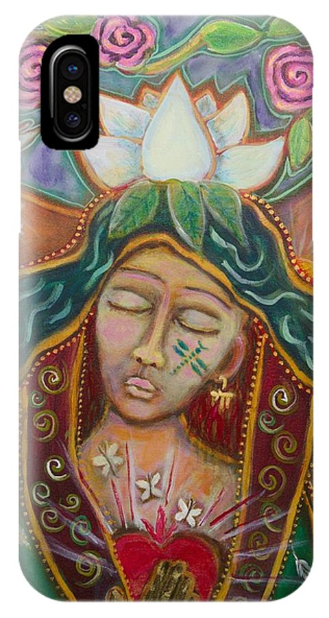 Attunement IPhone X Case featuring the painting Attunement by Havi Mandell