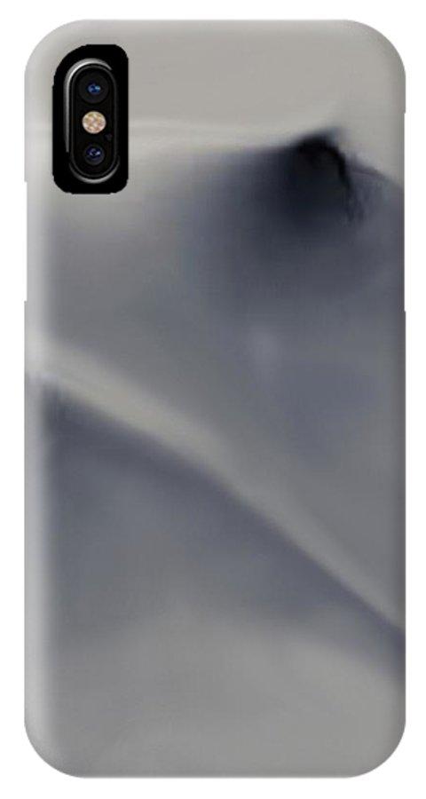Nipples IPhone X Case featuring the digital art Au Clear De La Lune by Salvatore Cammarata