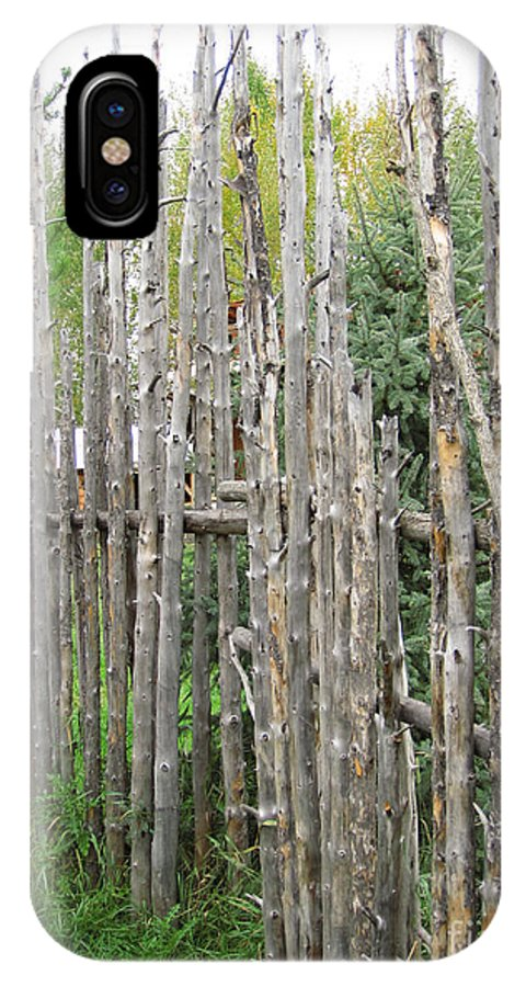 Polbridge Montana IPhone X Case featuring the photograph Au-natural Privacy Screen by June Hatleberg Photography