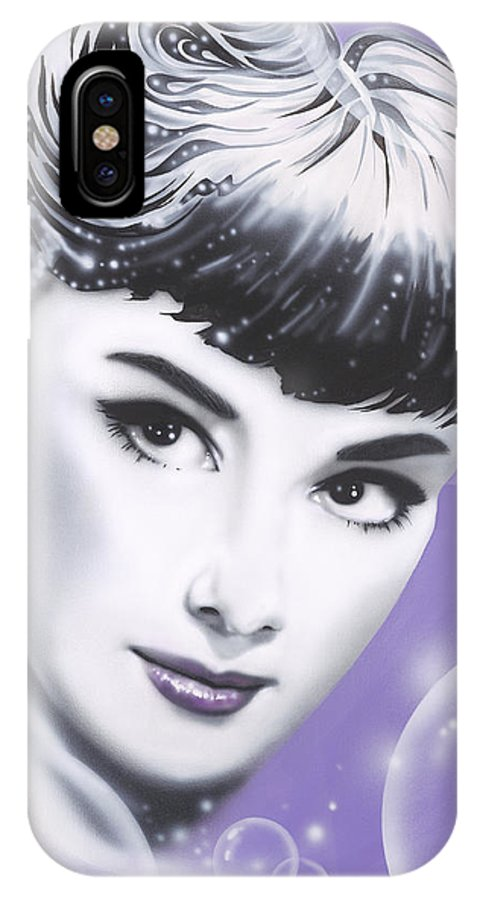 Audrey Hepburn IPhone Case featuring the painting Audrey Hepburn by Alicia Hayes
