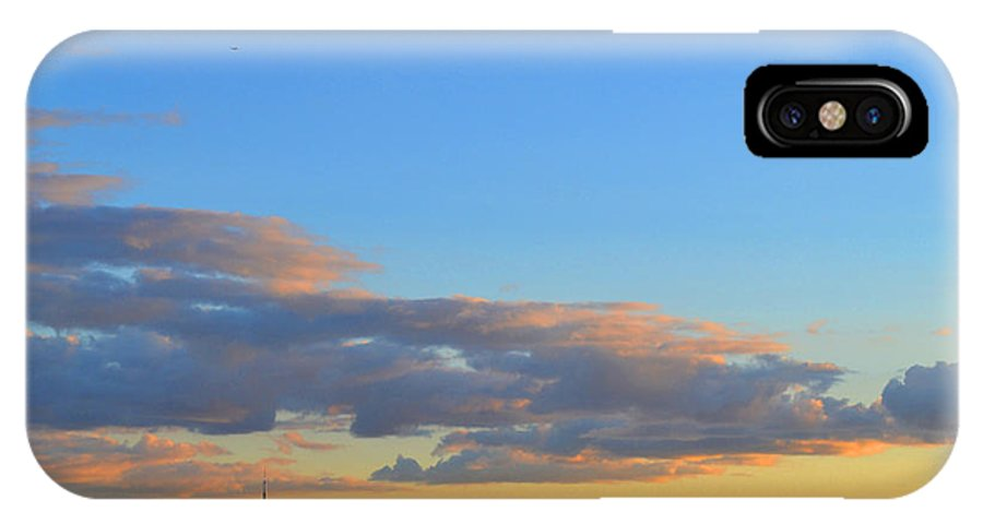 Abstract IPhone X Case featuring the photograph August Early Evening Toronto 4 by Lyle Crump