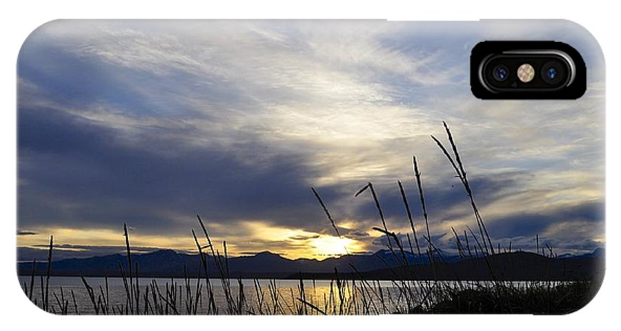 Juneau IPhone X Case featuring the photograph Auke Rec Sunset by Cathy Mahnke