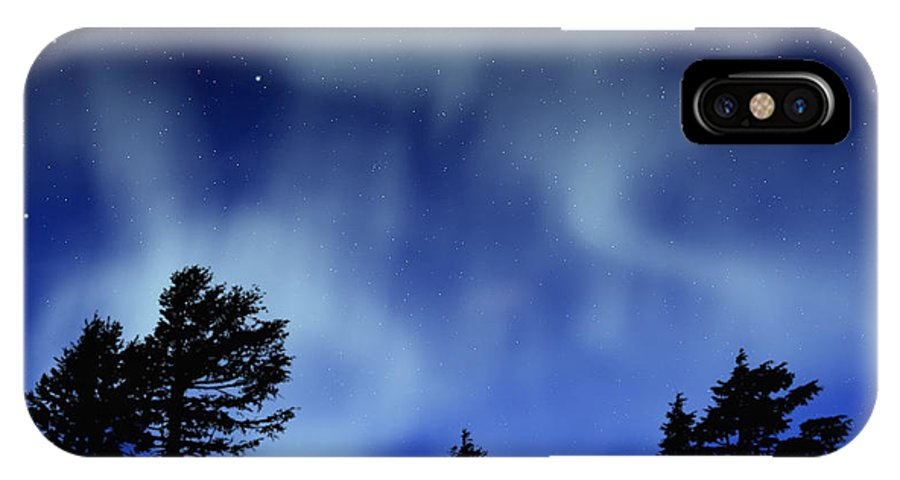 Aurora Borealis Mural IPhone X Case featuring the painting Aurora Borealis Wall Mural by Frank Wilson