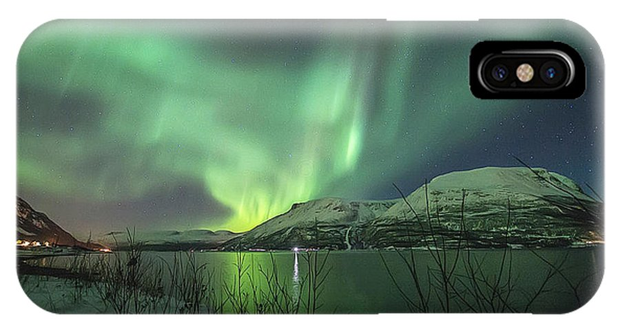 Northern Lights IPhone X Case featuring the photograph Aurora In Nothern Norway I by Tom Kiil