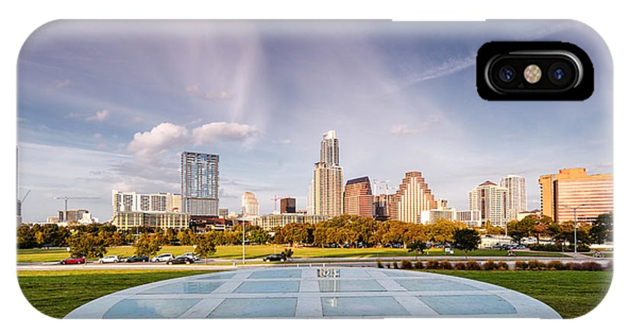 Downtown IPhone X Case featuring the photograph Austin Skyline From The Longs Center For The Performing Arts by Silvio Ligutti