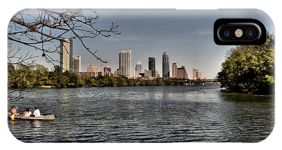 Austin IPhone X Case featuring the photograph Austin Skyline by Jamie Franks