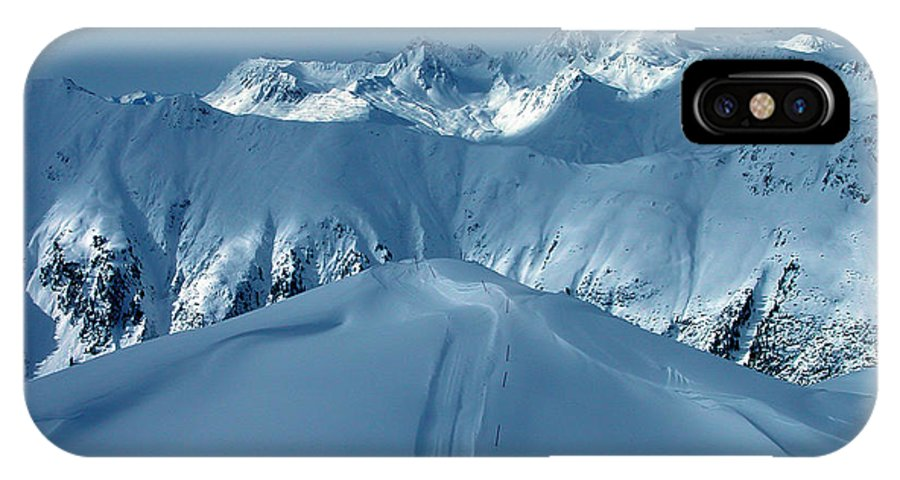 Colette IPhone X / XS Case featuring the photograph Austria Mountain Ischgl by Colette V Hera Guggenheim