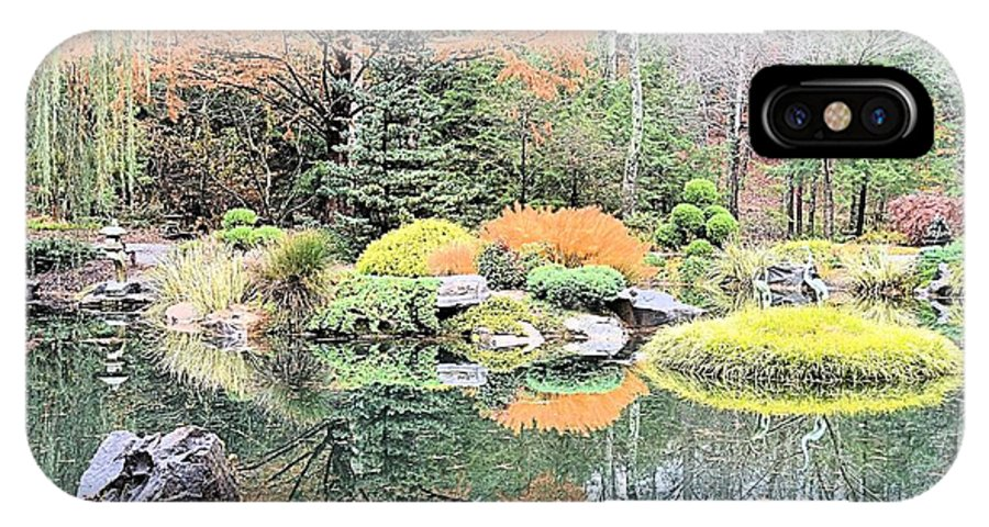 Reflection IPhone X Case featuring the photograph Autumn Lakeside by James Potts