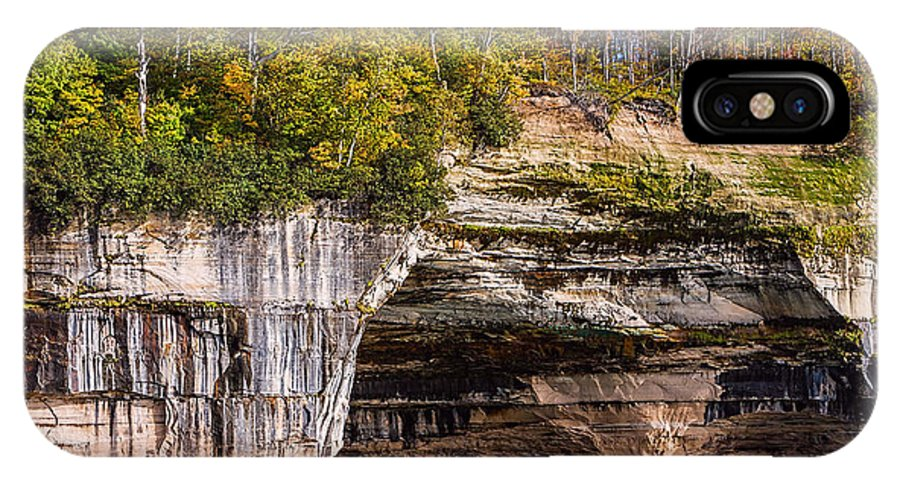 Pictured Rocks National Lakeshore IPhone X Case featuring the photograph Autumn At Pictured Rocks by Cindy Lindow