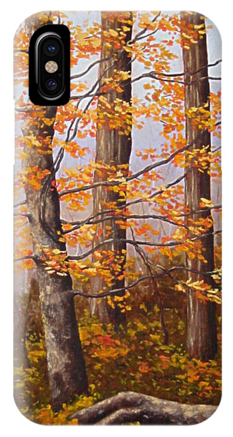 Autumn IPhone X Case featuring the painting Autumn At Tishomingo State Park by Darla Brock