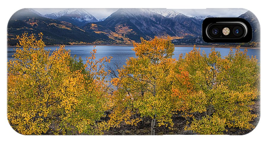 Autumn IPhone X / XS Case featuring the photograph Autumn At Twin Lakes by Morris McClung