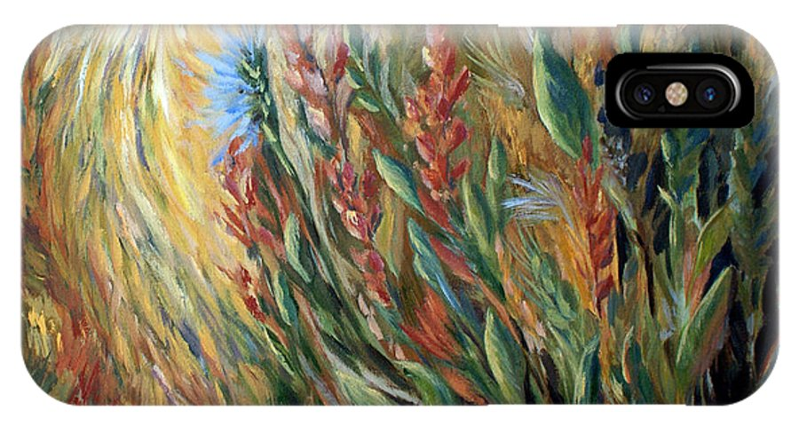 Autumn Floral Blooms IPhone X Case featuring the painting Autumn Bloom by Joanne Smoley