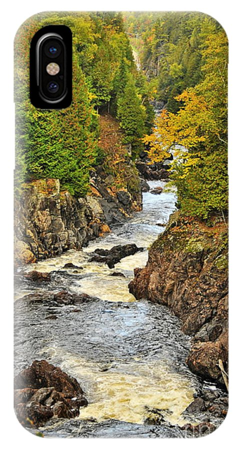 Michael Cummings IPhone X / XS Case featuring the photograph Autumn Channel by Michael Cummings