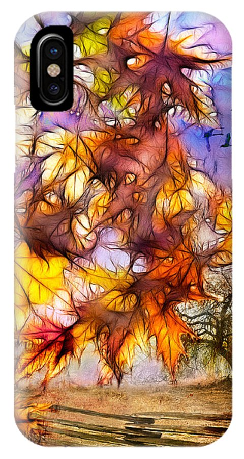 Artistic IPhone X Case featuring the photograph Autumn Dreams by Kasandra Sproson
