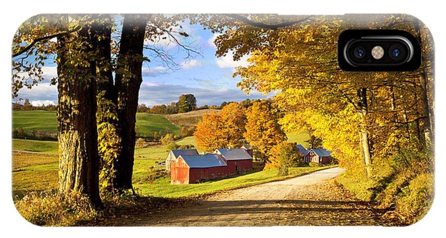 Autumn IPhone X Case featuring the photograph Autumn Farm In Vermont by Brian Jannsen