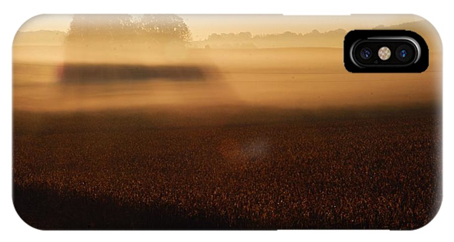 Photography IPhone X Case featuring the photograph Autumn Fog by Larry Ricker