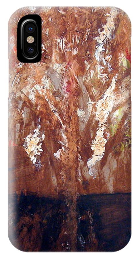 Autumn IPhone X Case featuring the painting Autumn by Holly Picano