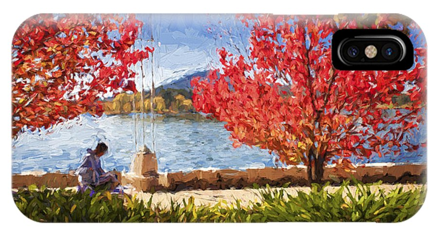 Autumn IPhone X Case featuring the photograph Autumn in Canberra by Sheila Smart Fine Art Photography