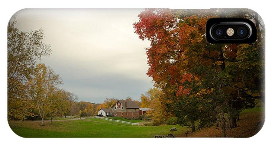 Autumn In Connecticut IPhone X Case featuring the photograph Autumn In Connecticut. by Nestor m Montanez