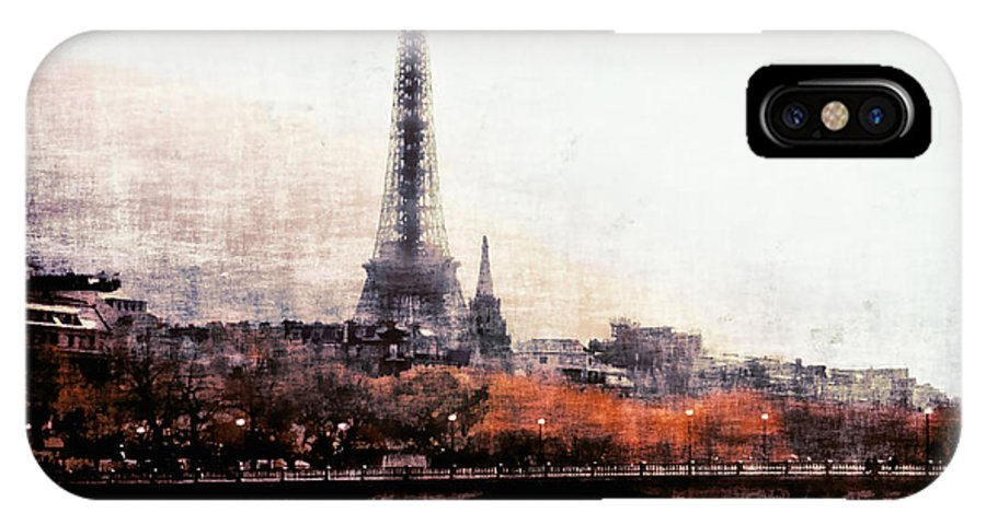 Autumn In Paris IPhone X Case featuring the photograph Autumn In Paris by Barbara D Richards