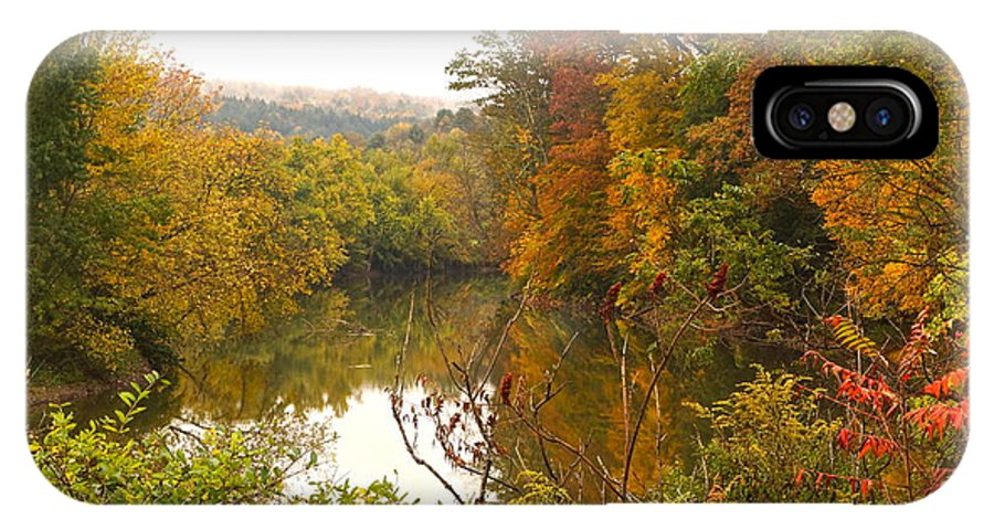 Autumn Scenic With River IPhone X Case featuring the photograph Autumn In The Butternut Valley-five by Byron Varvarigos
