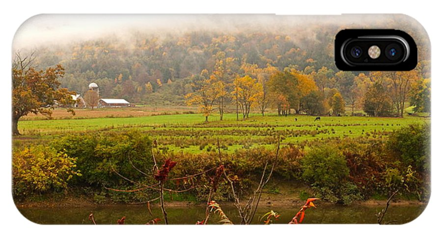 Autumn Pastoral Landscape IPhone X Case featuring the photograph Autumn In The Butternut Valley-six by Byron Varvarigos