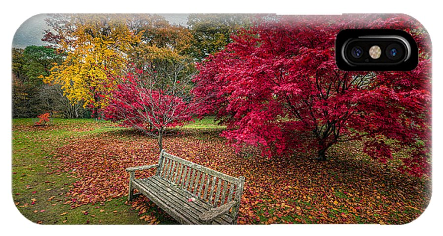 Autumn IPhone X Case featuring the photograph Autumn In The Park by Adrian Evans