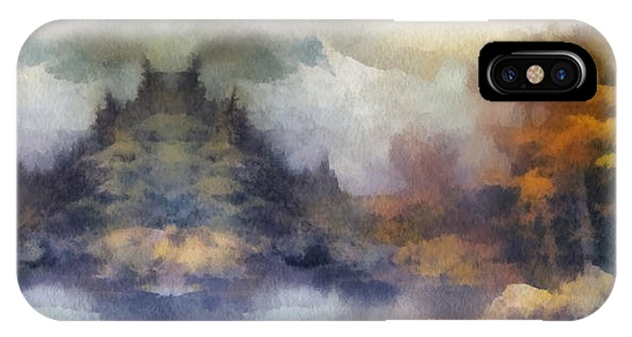 Autumn IPhone X Case featuring the photograph Autumn In The Usa Photo Art by Thomas Woolworth