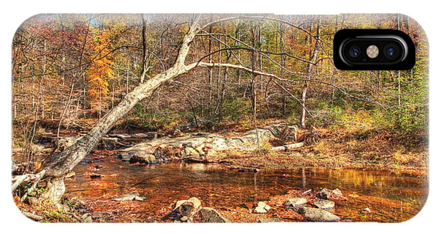 Landscape IPhone X Case featuring the photograph Autumn In Virginia by Michael Clubb