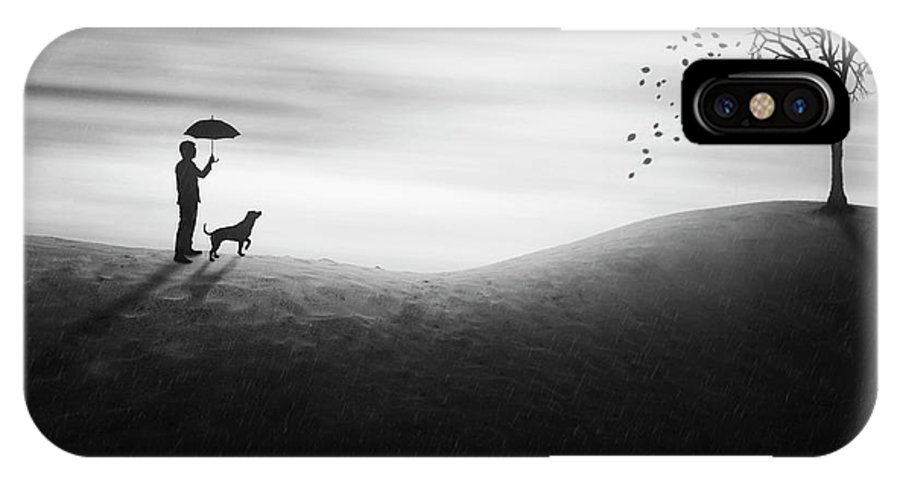 Bw IPhone X Case featuring the photograph Autumn by Ivan Marlianto