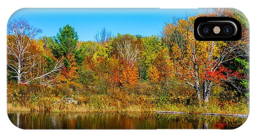 Steve Harrington IPhone X Case featuring the photograph Autumn Lake by Steve Harrington