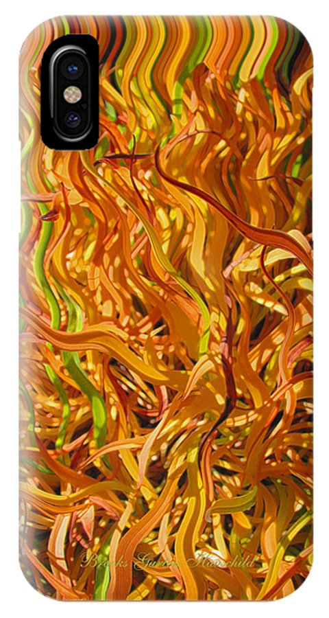 Abstracts IPhone X Case featuring the photograph Autumn Leaves 5 - Abstract Photography - Manipulate Images by Brooks Garten Hauschild