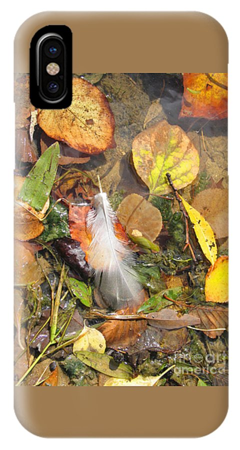 Autumn IPhone X Case featuring the photograph Autumn Leavings by Ann Horn