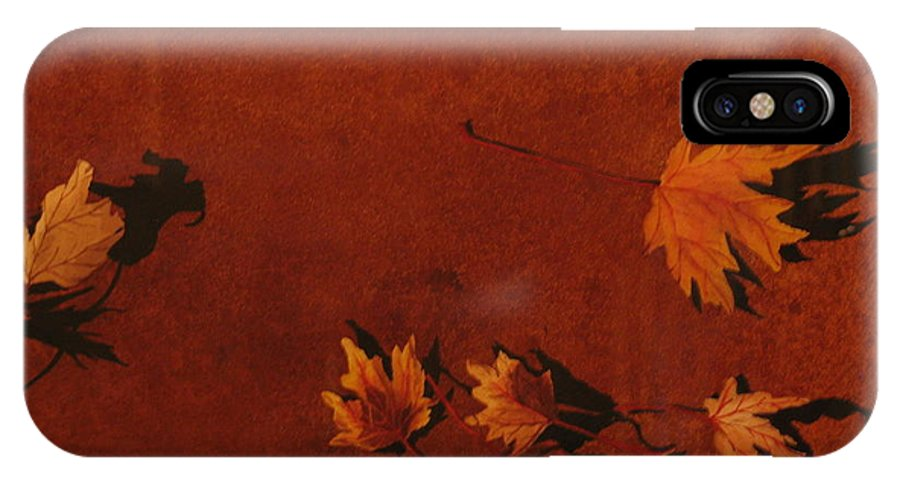 Leaves IPhone X Case featuring the painting Autumn Offering by Carole Poole