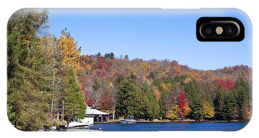 Adirondack's IPhone X / XS Case featuring the photograph Autumn On The Fulton Chain Of Lakes In The Adirondacks V by David Patterson