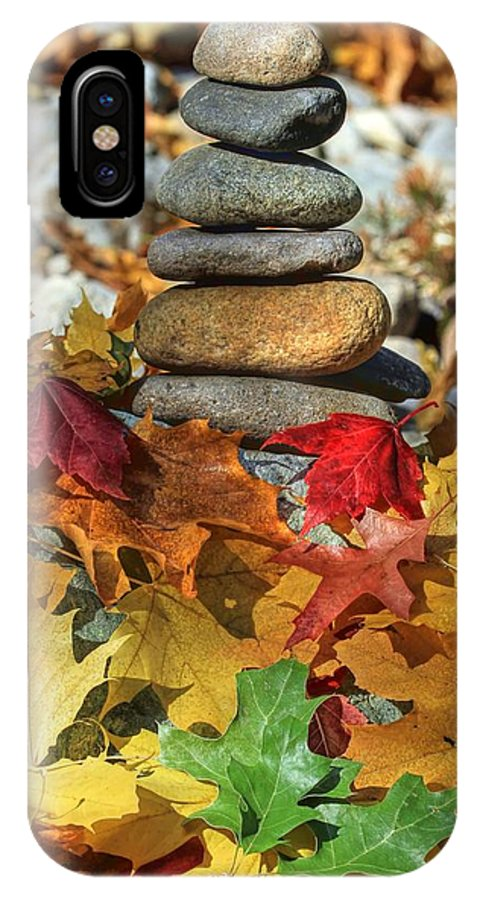 Zen IPhone X Case featuring the photograph Autumn On The Rocks 2 by Donna Kennedy