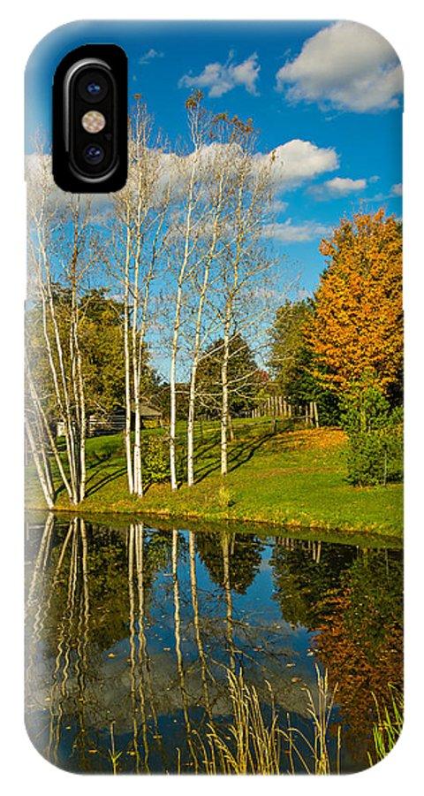 Steve Harrington IPhone X Case featuring the photograph Autumn Pond by Steve Harrington