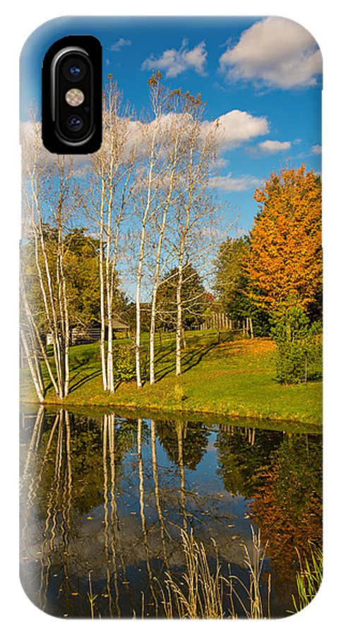 On A Drive-about Through The Autumn Splendor Of The Back Roads Near Bolton IPhone X Case featuring the photograph Autumn Reflecting by Steve Harrington