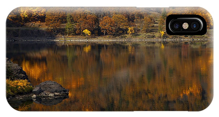Rowland Lake IPhone X Case featuring the photograph Autumn Reflections by Mike Dawson