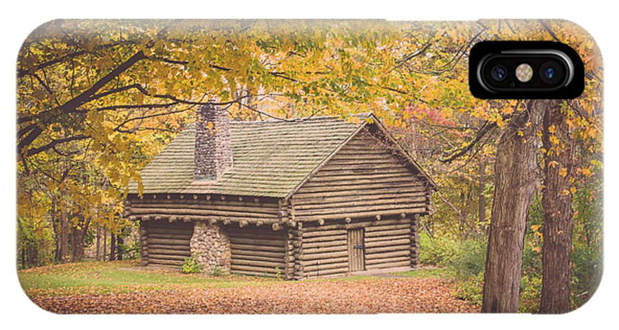 Cabin IPhone X Case featuring the photograph Autumn Retreat by Sara Frank