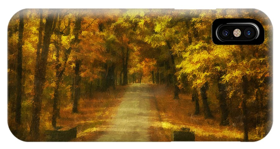 Autumn IPhone X Case featuring the photograph Autumn Road by Mick Burkey
