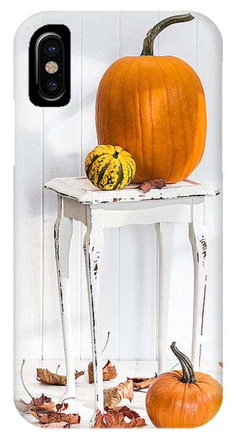 Pumpkins IPhone X Case featuring the photograph Autumn Table by Amanda Elwell
