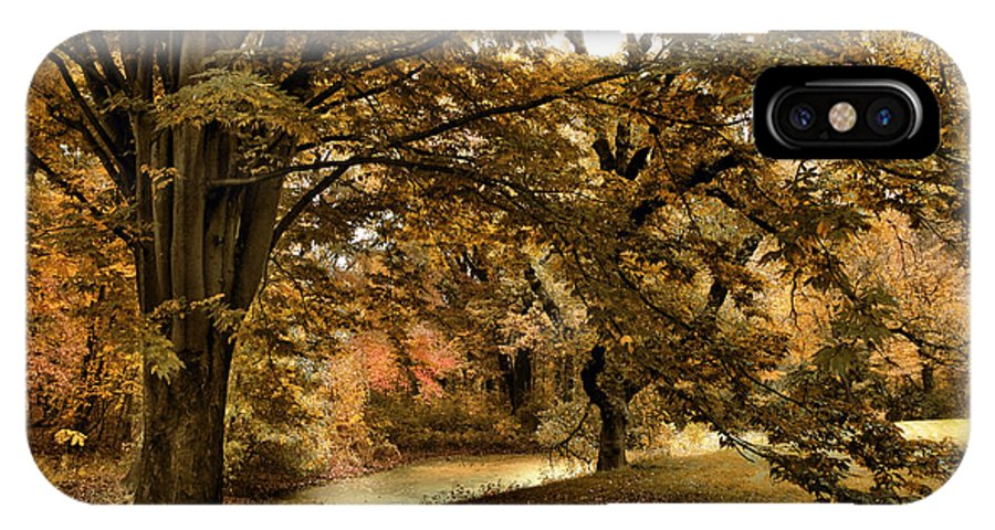 Autumn IPhone X Case featuring the photograph Autumn Umbrella by Jessica Jenney